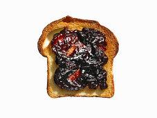 White Bread Toast with Grape Jam