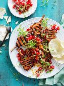 Tandoori Lamb Cutlets with Tomato and Coriander Salsa