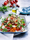 Tomato Salad with Labne and Seeds