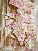 White-Choc Mint Candy Cane Bark