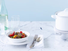 Mediterranean Lamb, Almond and Apricot Tagine