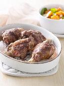 Mediterranean Lamb with Warm Kumara and Chickpea Salad