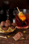 Negroni Truffles made with Campari