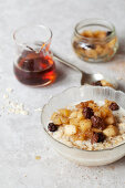 Oat Porridge topped with Apple and Raisin Compote