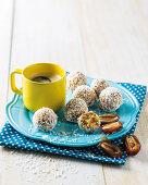 Lemon and cashew date balls