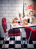 Lunch in an American Diner