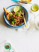 Salmon Tartare and Lentil Salad