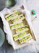 Crab, Avocado and Cucumber Sandwiches