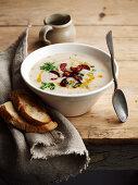weiße Bohnensuppe mit Chorizo