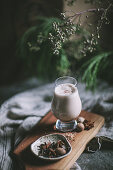 Egg Nog with cream and spices