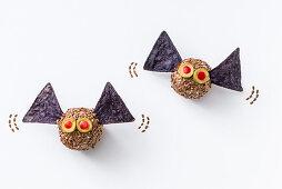 Cheese bats for Halloween