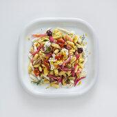 Cavatelli con cipolle rosse e acciughe (pasta with red onions and anchovies, Italy)
