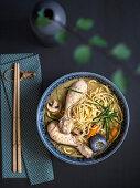 Shoyu ramen with chicken
