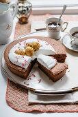 Tortino morbido di castagne (moist apricot cake, Italy)
