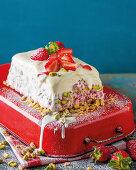 Strawberry cheesecake terrine