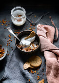 Granola with cookies and cream