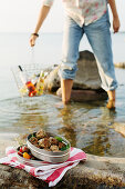 Lamb meatballs for a picnic by a lake