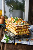 Mille-feuille with gooseberries