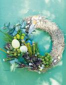 A decorative Easter wreath