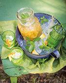 Pineapple and lemon cordial