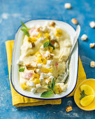 Pineapple and marshmallow pudding