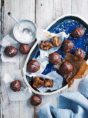 Salted date caramels