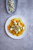 Gnocchi with Hokkaido pumpkin and feta cheese