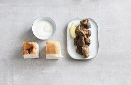 Grilled coriander lamb