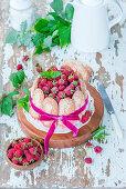 Raspberry sharlotte cake