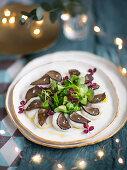Christmas scallops and truffle salad