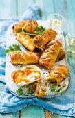 Herby chicken sausage rolls