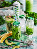 Kale and banana smoothie