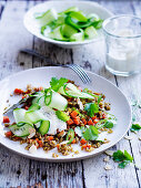Spiced Freekeh and Cucumber
