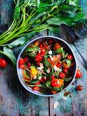 Stir-Fried Pumpkin and Water Spinach
