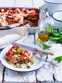 Pea, Fennel and Spinach Lasagne