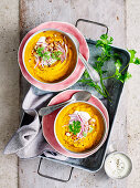 Spiced Carrot Soup with Smoked Almonds