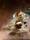 Brazil nut biscuits with a chocolate glaze (Christmas)
