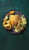 Mediterranean dukkah chicken