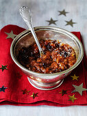 Christmas Chutney with prunes, dates, apricots and onions
