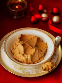 Christmas brandy butter with spoon