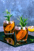 Rosemary tea with lime