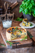 Mushroom pie with cream filling