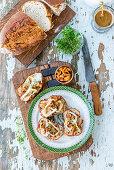 Toast mit Pilzen und Käse