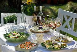 A mid-summer buffet in a garden
