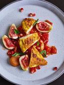 Oriental lemon chicken with cardamom and figs