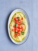 Oriental turmeric hummus