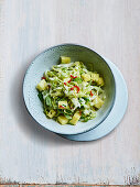 Coleslaw with wasabi and pineapple