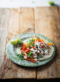 Tex-mex coconut chicken fajitas