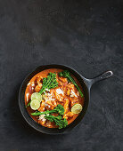 17-minute lime and coconut butter chicken