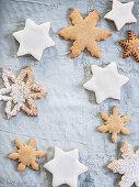 Christmas stars and snowflakes